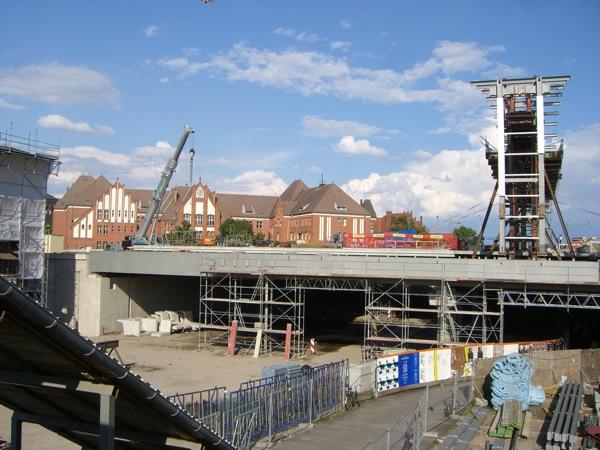 Dachbinder und Dachgiebel Ostkreuz