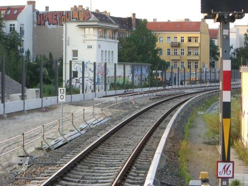 Der Gleisbau nördlich des Ostkreuzes