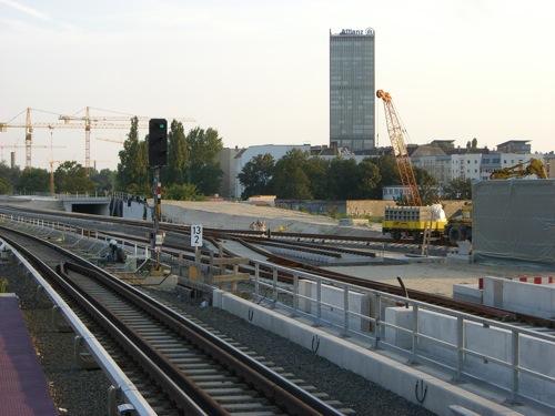 Der Gleisbau am südlichen Ende Ostkreuz