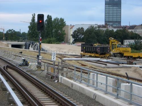 Südliches Gleisvorfeld der Ringbahn am Ostkreuz