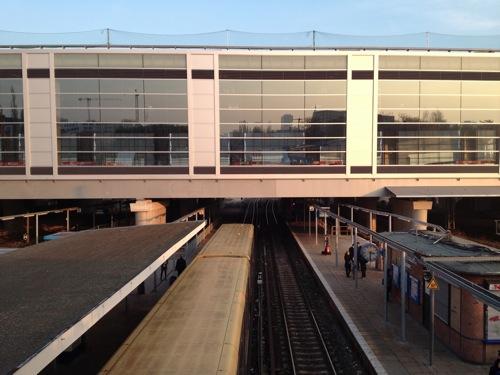 S-Bahnsteig Stadtauswärts