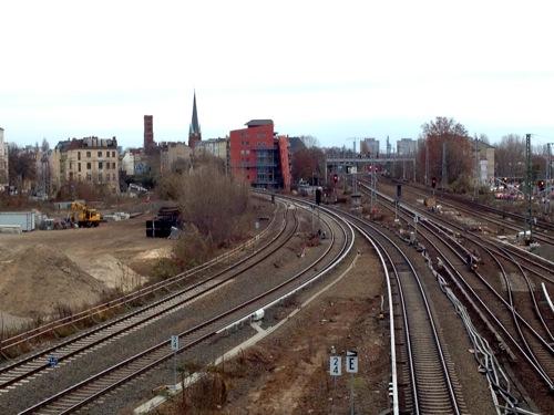 Weiche für die Fernzüge der Ostbahn
