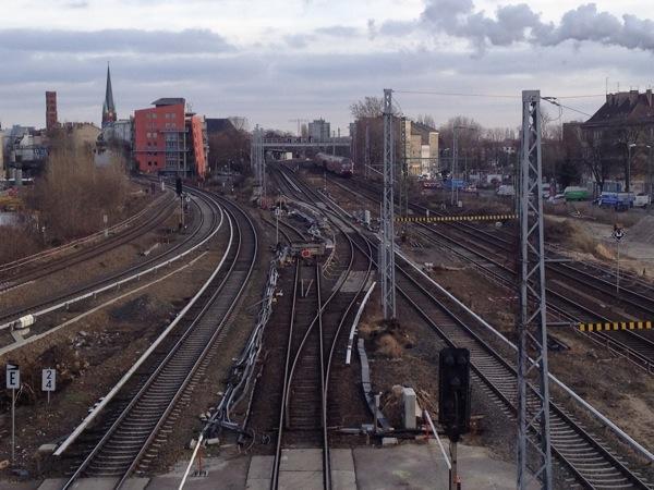 Gleisverschwenkung am Ostkreuz