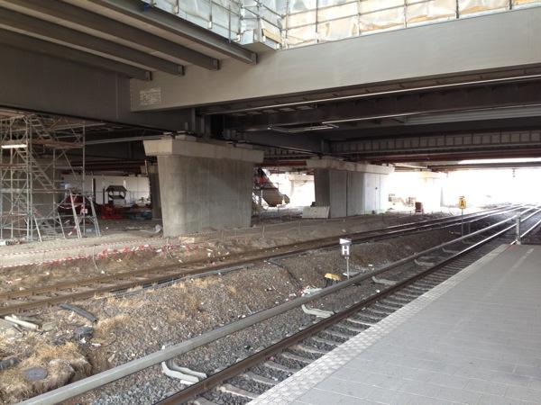 Neuer Bahnsteig D Ostkreuz