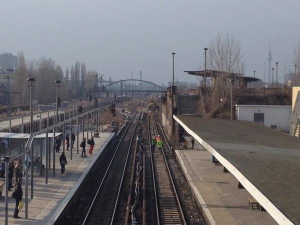 Gleisverschwenkung Ostkreuz Gleisvorfeld West