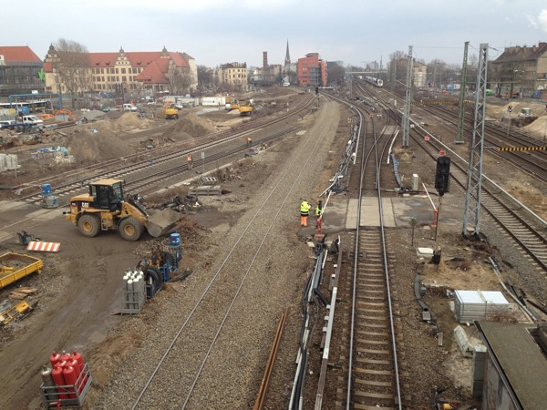 Gleisverschwenkung S-Bahn