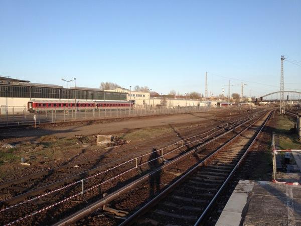S-Bahnhof Warschauer Straße Blick Richtung Ostkreuz