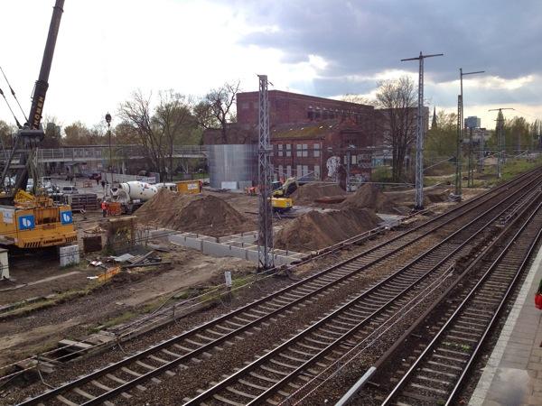 Bauvorleistung für die A100 am Ostkreuz