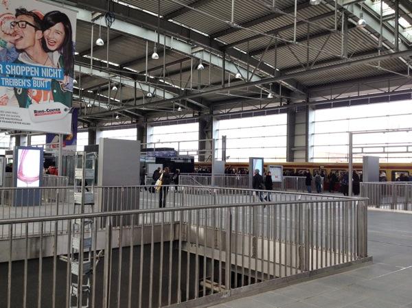 Ringbahnhalle Bahnsteig