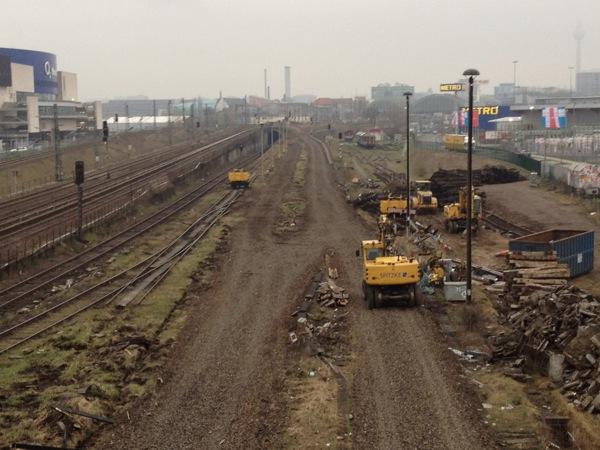 Westliches Gleisvorfeld und Kehranlage Warschauer Straße