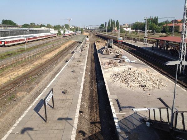 Bahnsteigreste Warschauer Straße