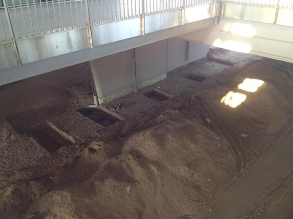 Fundamente für den Bahnsteig Rn1