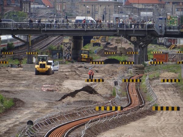 Neuer Bahnsteig Warschauer Straße