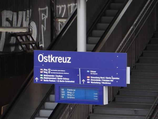 Zugzielanzeige Eingang Sonntagstraße