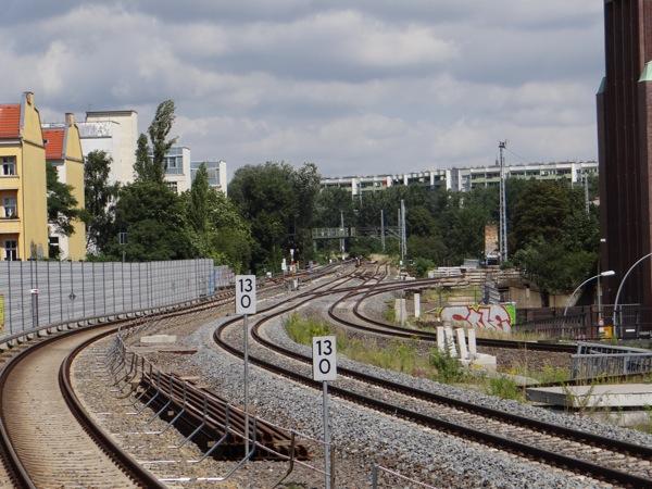 Fernbahngleise der Ringbahn in Endlage