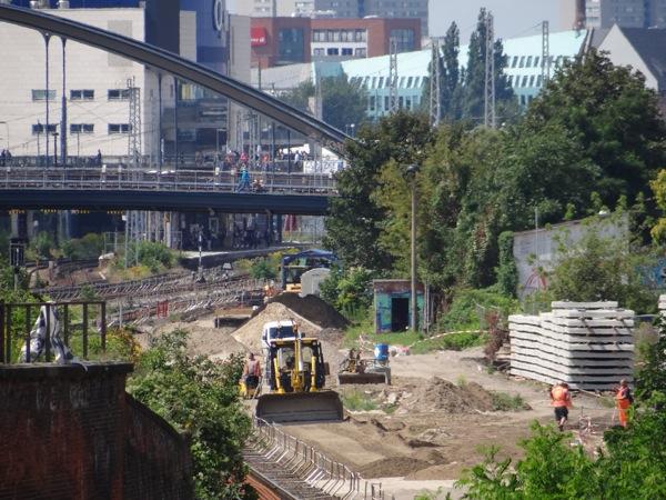 Gleisbau zwischen Ostkreuz und Warschauer Straße