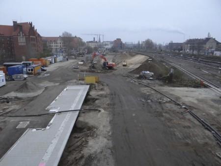Östliches Ende des Bahnsteigs Rn1