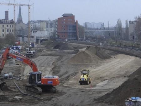 Baustellenumfahrung für die S-Bahn von und nach Lichtenberg