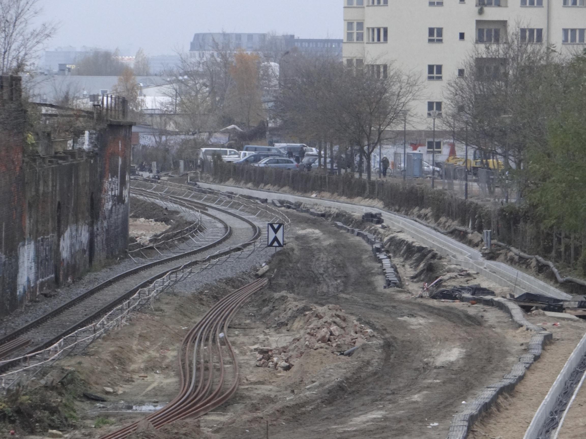 Kabeltrassen für die S-Bahn