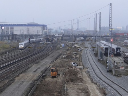 Gleistrasse der S-Bahn Richtung City
