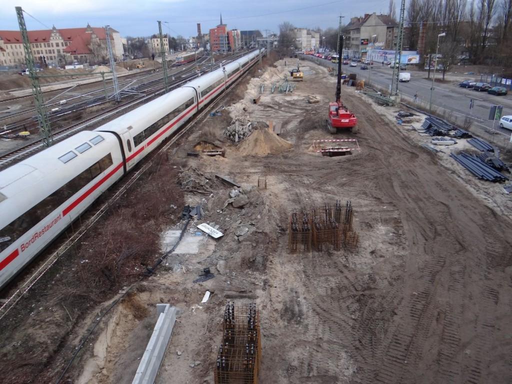 Fernbahntrasse am Ostkreuz