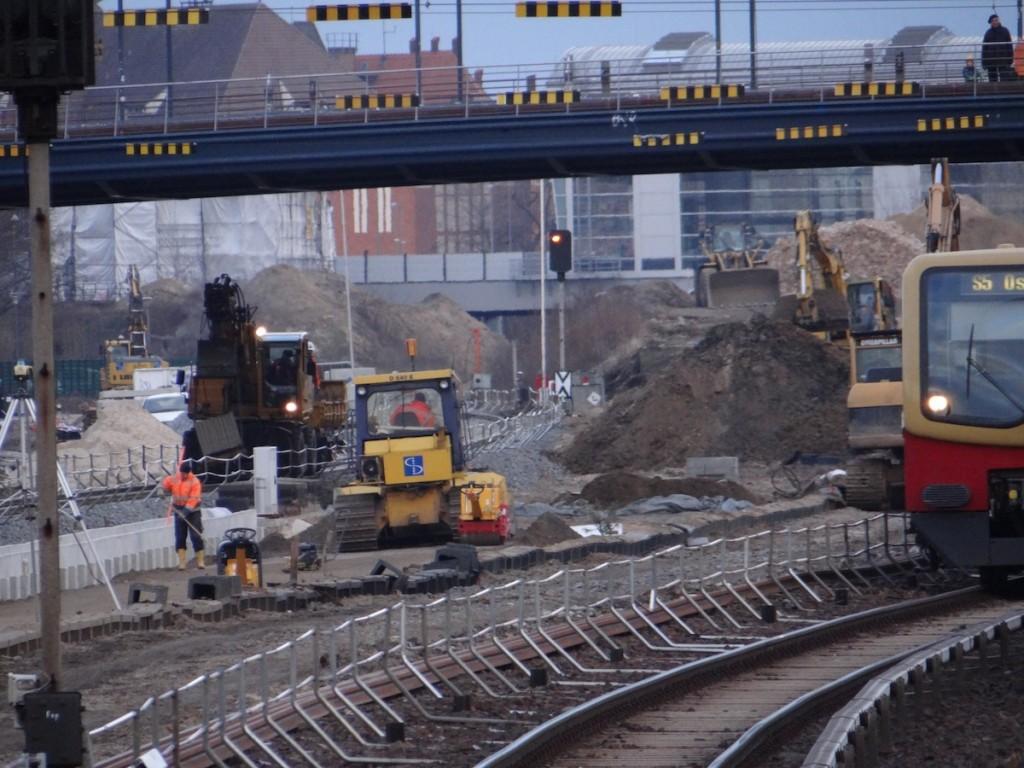 Gleisbauarbeiten zwischen Ostkreuz und Warschauer Straße