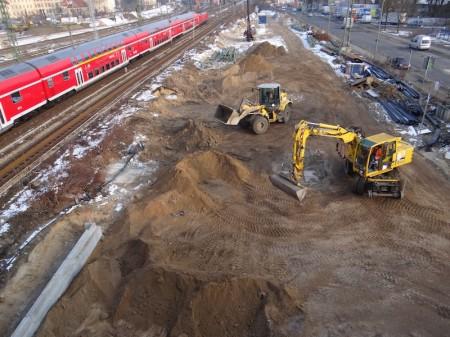 Neuer Bahndamm für die Fernbahn