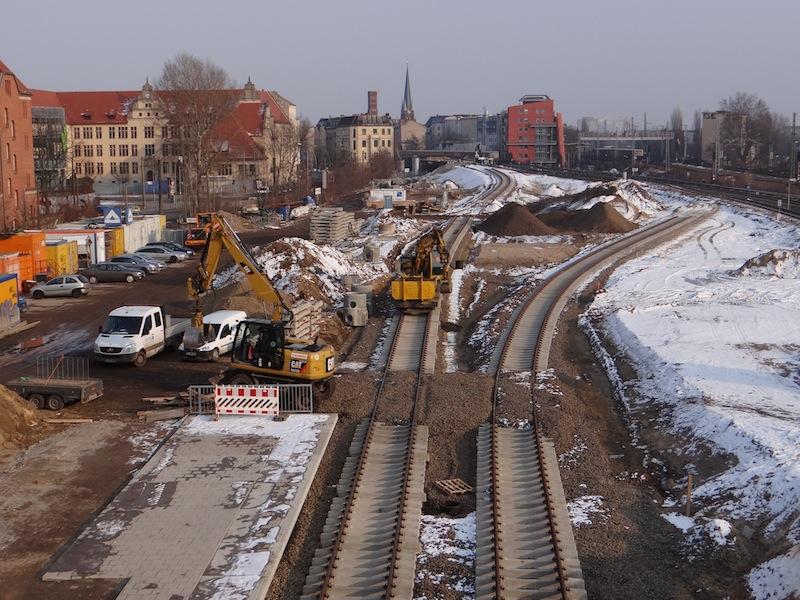 Neue S-Bahntrasse zum Bahnsteig Rn1