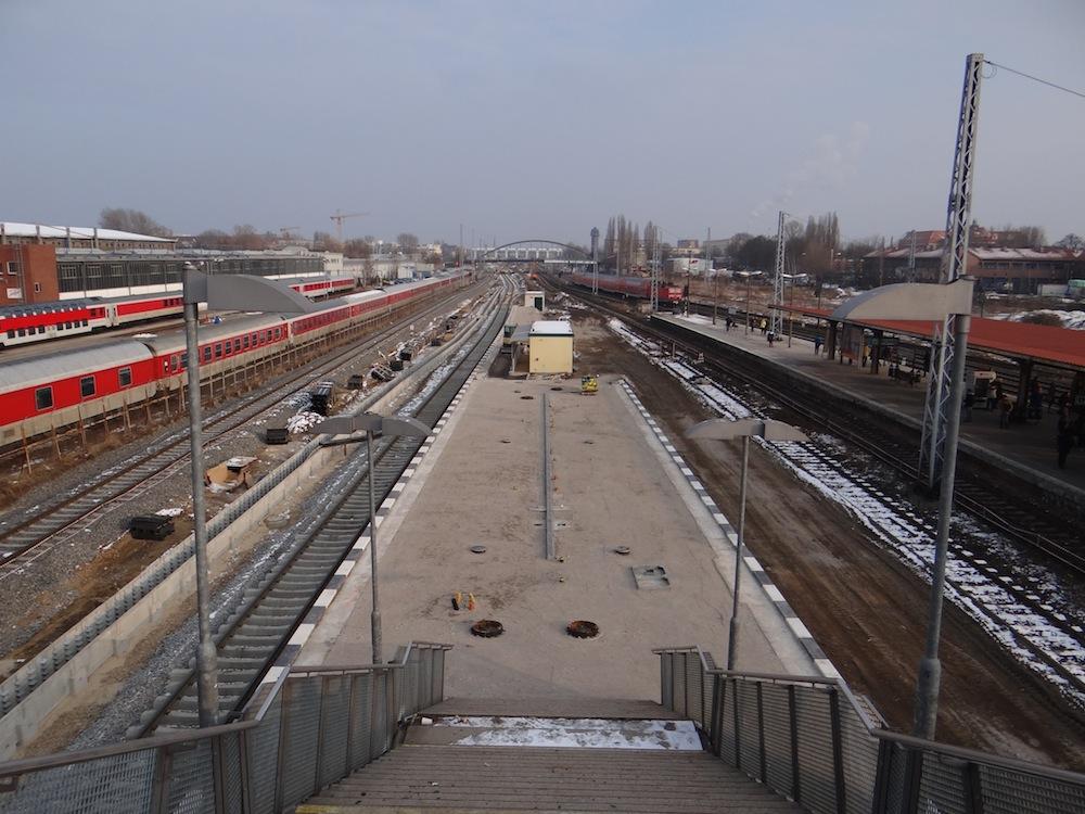 Der neue Bahnsteig B