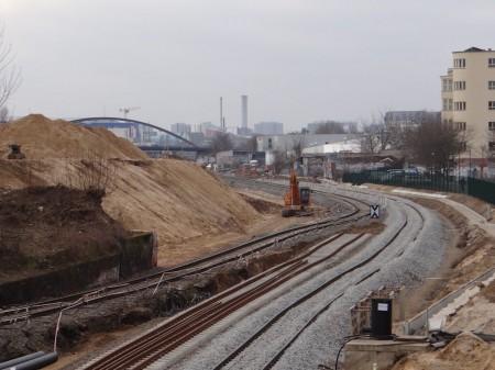 Temporäres S-Bahn Gleis