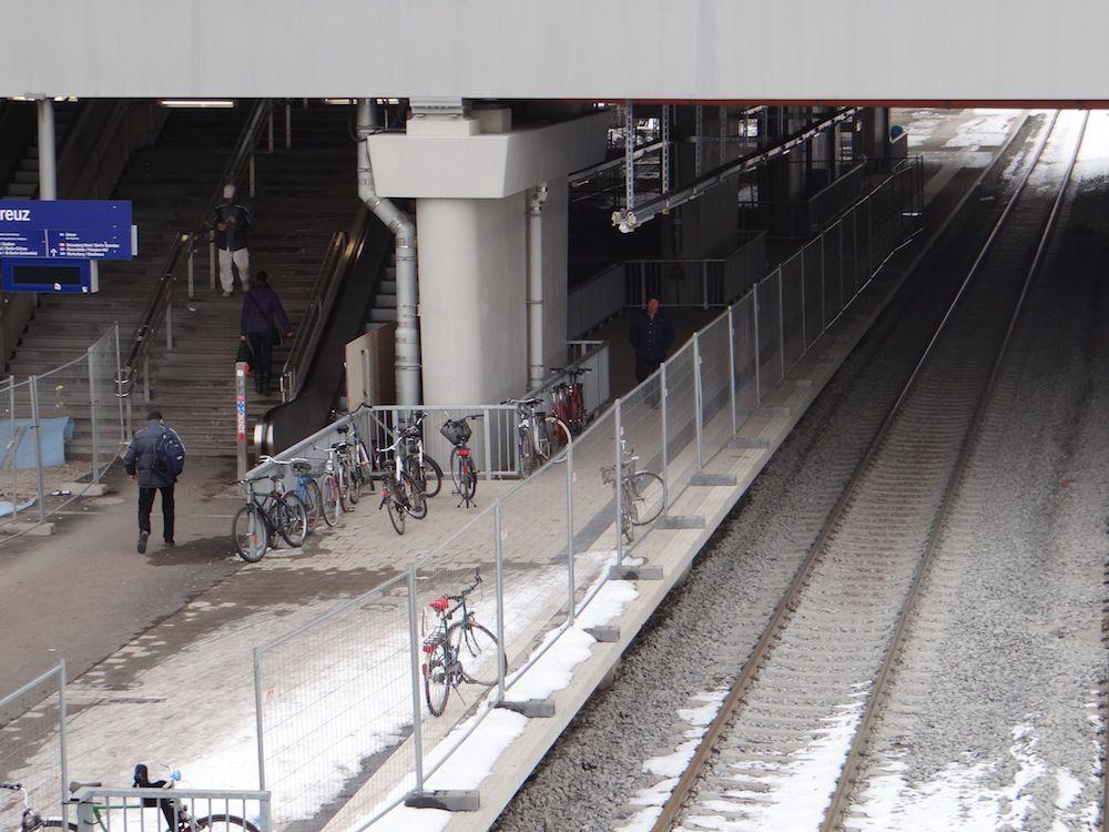 Der neue Bahnsteig Rn1 ab 13. Mai S-Bahnsteig