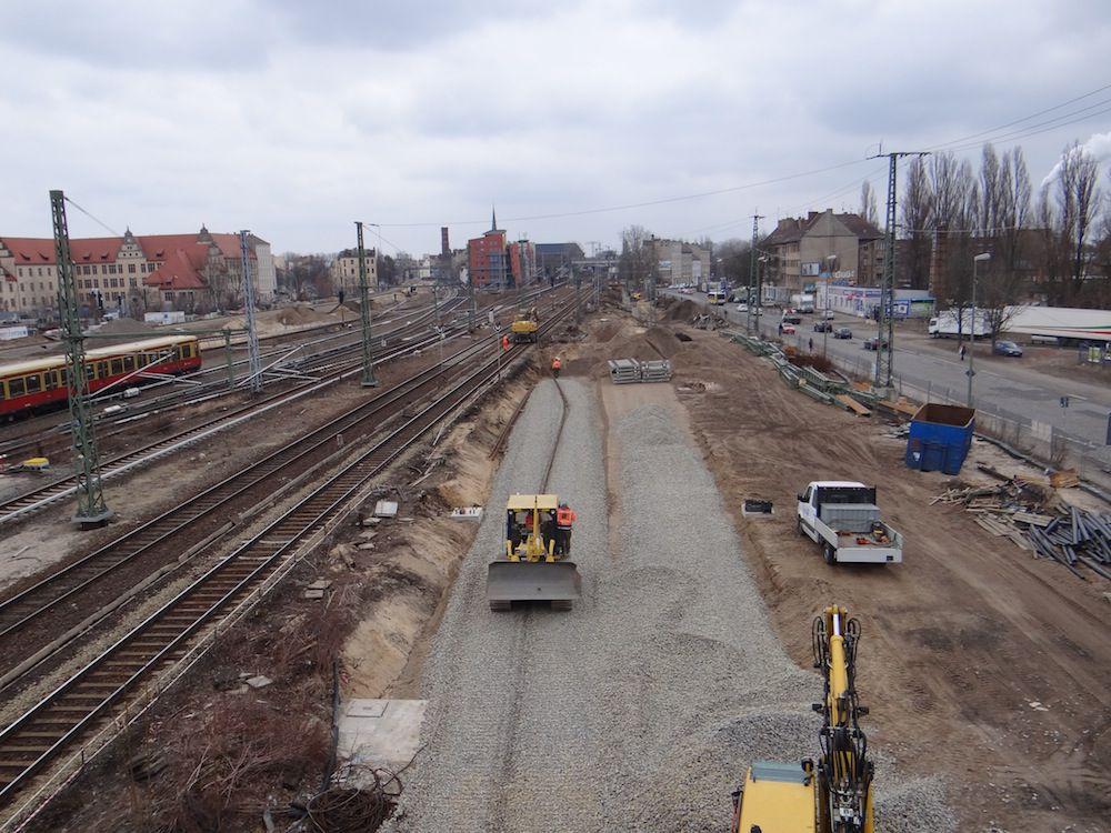 Die neue Fernbahntrasse wächst Richtung Osten