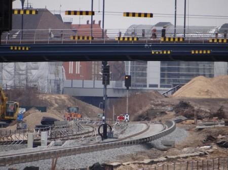 Signale und Stromschienen auch zwischen Ostkreuz und Warschauer Straße