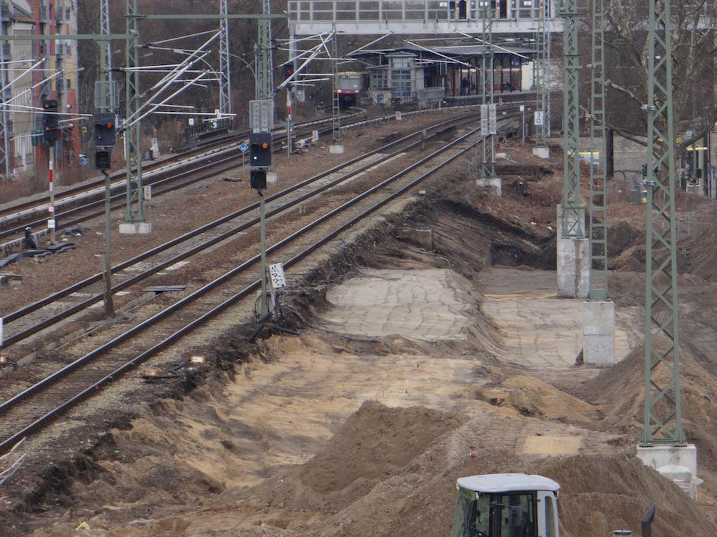 Aufschüttung Bahndamm