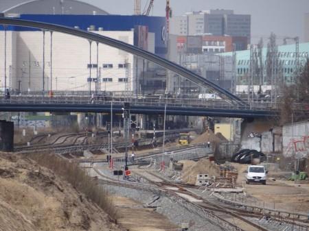 Das neue S-Bahngleis zwischen Ostkreuz und Warschauer Straße