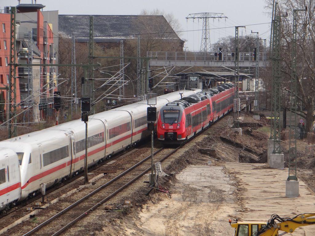 Aufschüttung Bahndamm neue Fernbahntrasse