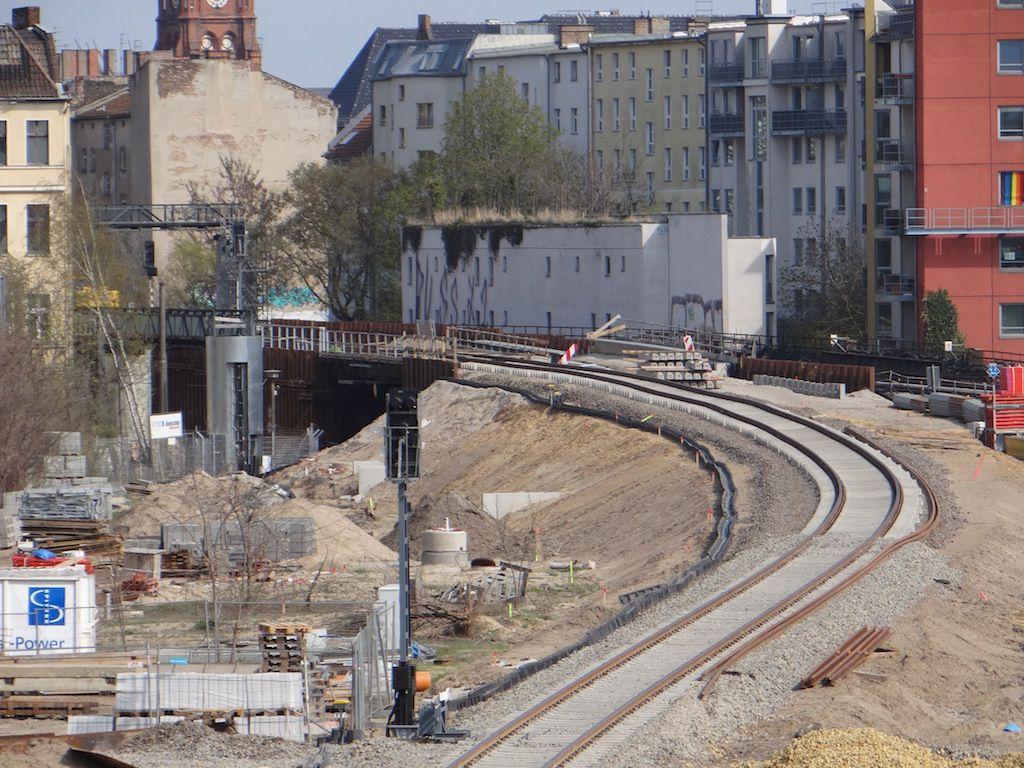 S-Bahngleis Behelfsbrücke Karlshorster Straße