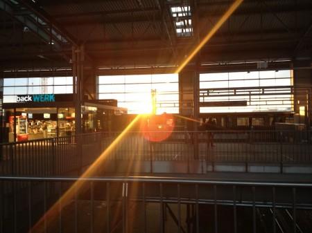 Sonnenuntergang am Ostkreuz