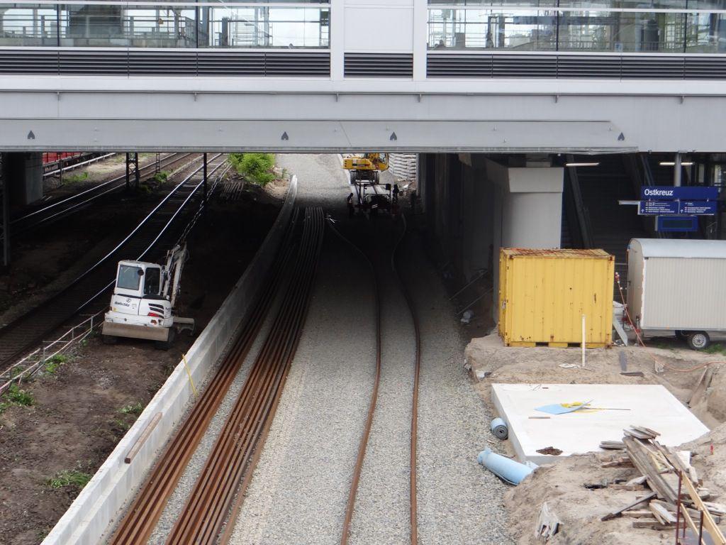 Gleisbau der Fernbahn hat begonnen