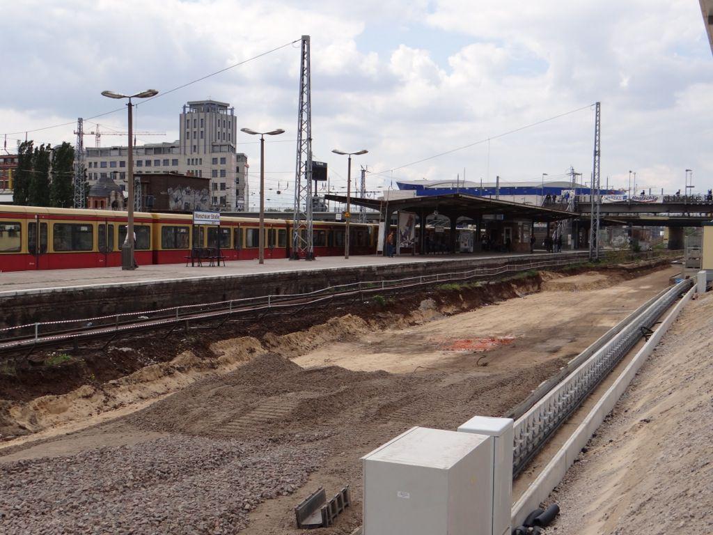Gleisplanum für das zweite Gleis am Bahnsteig B