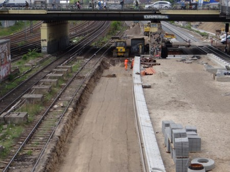 Gleisplanum für das zweite Gleis des Bahnsteigs B