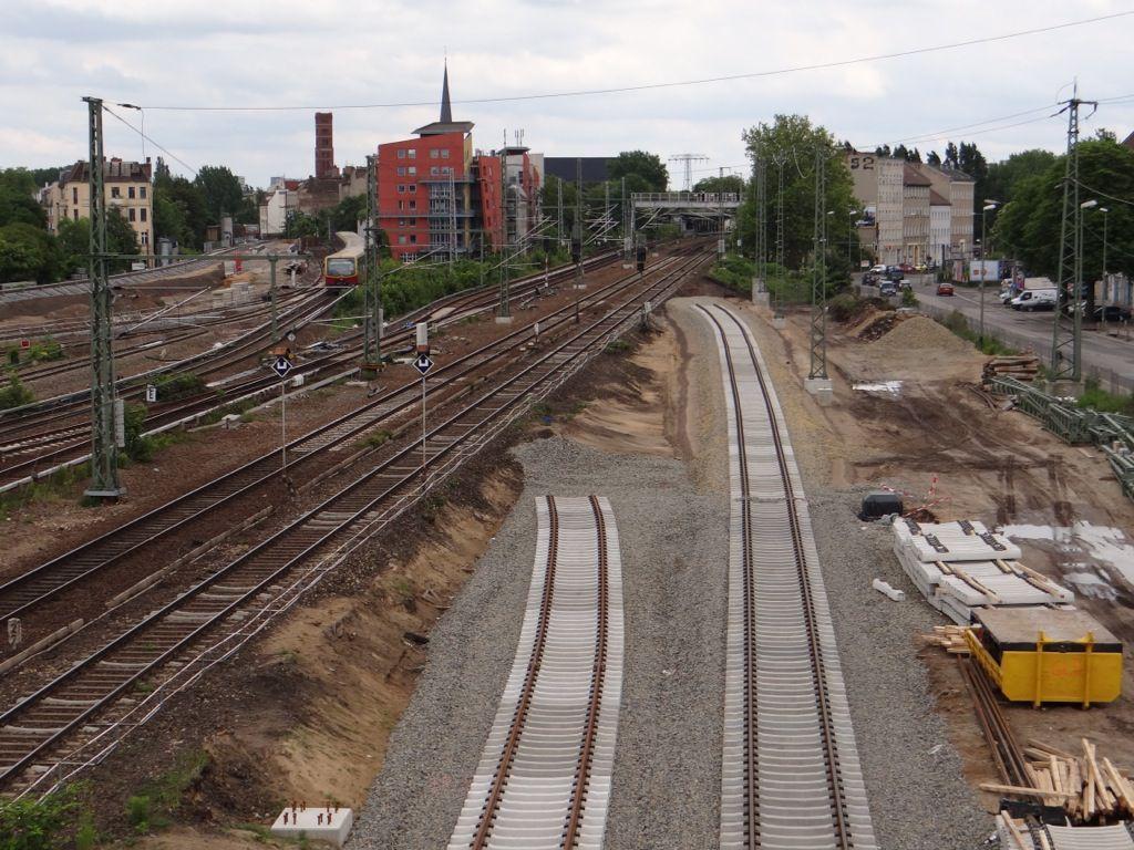 Die neue Fernbahntrasse ist nun endgültig erkennbar