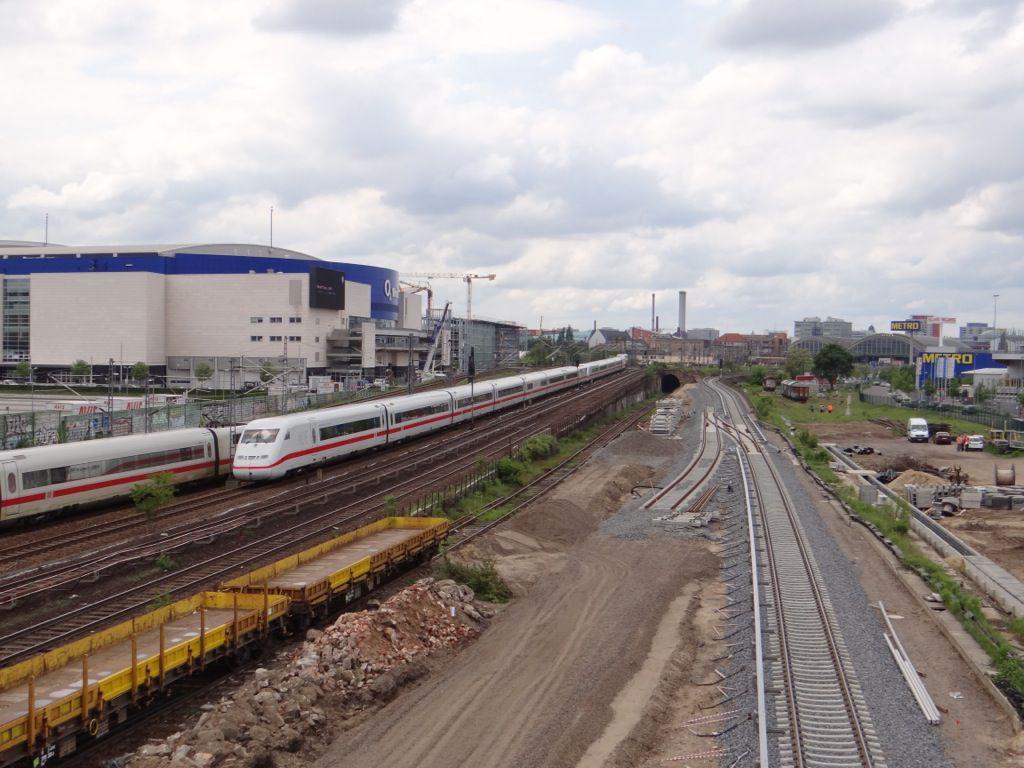 Das Planum für das zweite Gleis wurde bereitet