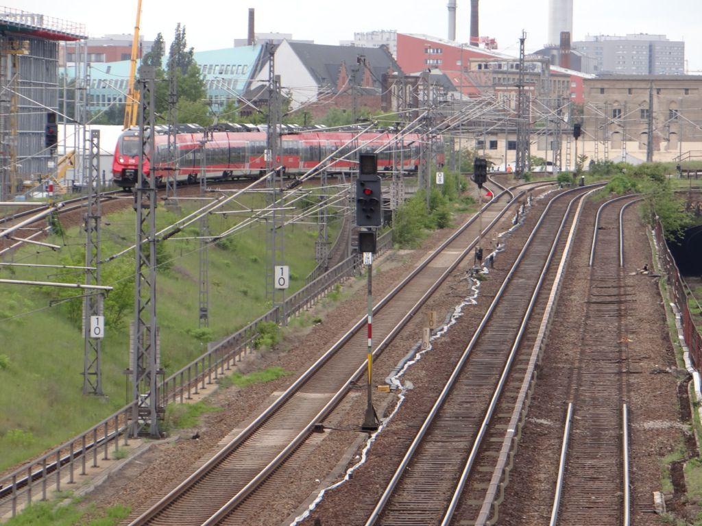 Die ersten Gleisteile wurden entfernt