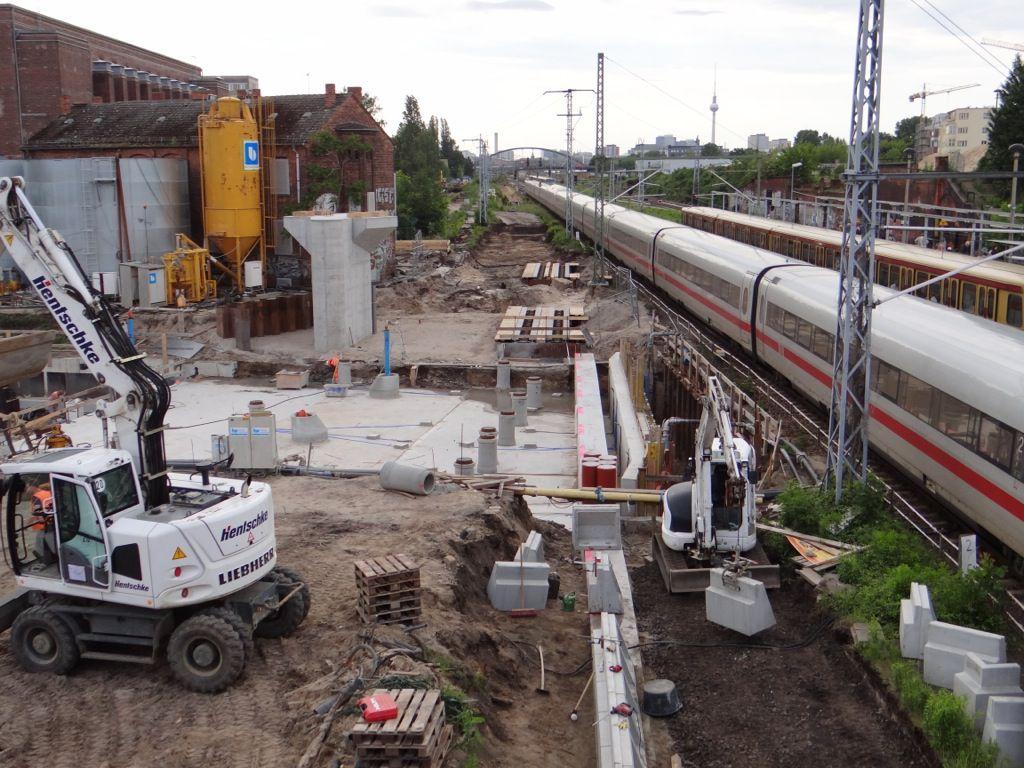 Aufbau der Bahnsteigkante