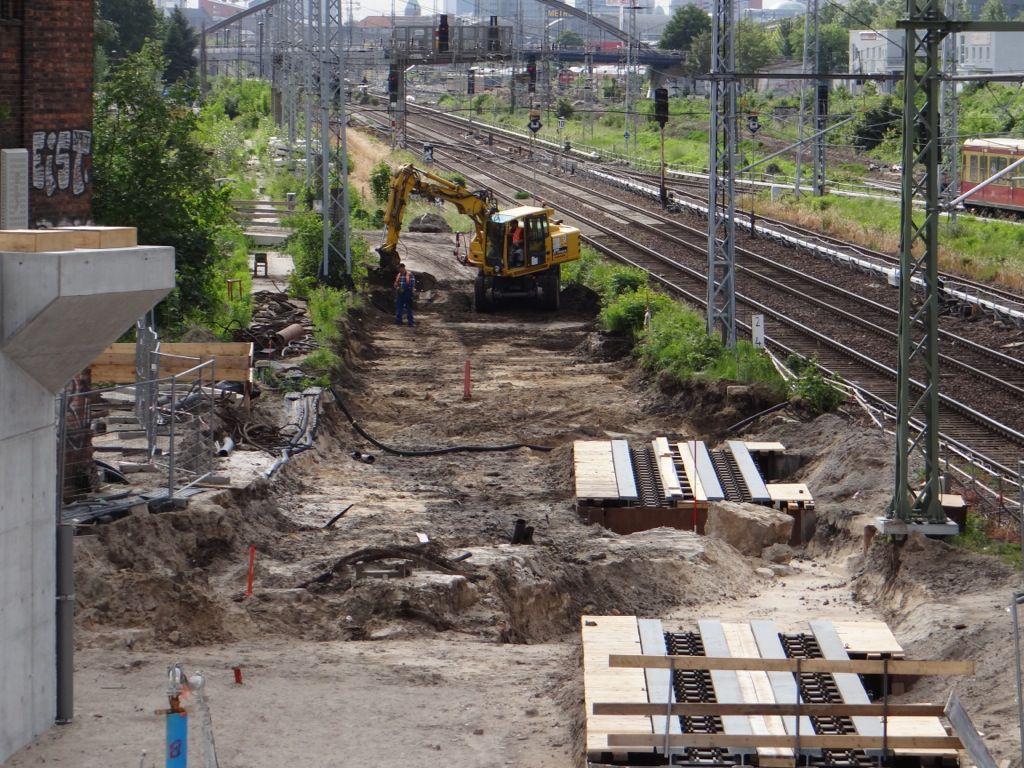 Vorbereitung Gleisplanum Fernbahntrasse