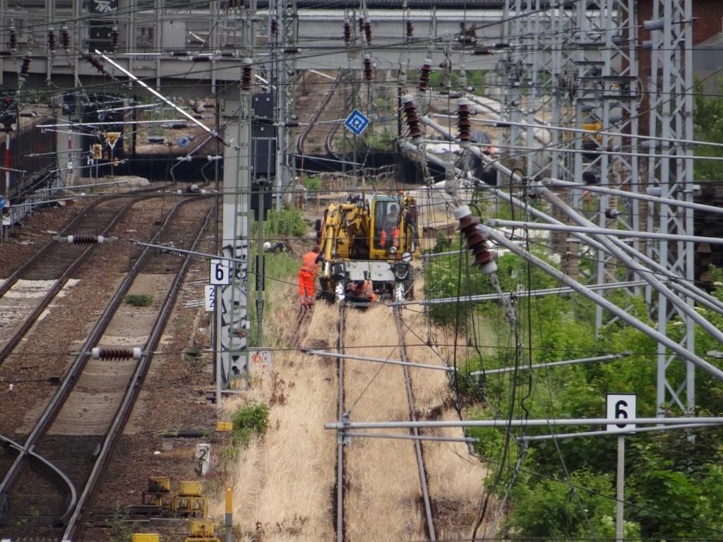 Das dritte Gleis wird an die neue Fernbahntrasse angeschlossen