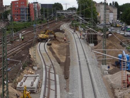 Das zweite Gleis wird auch mit angeschlossen