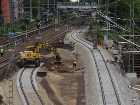 Östlicher Teil der neuen Fernbahntrasse
