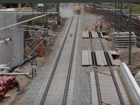 Westlicher Teil der neuen Fernbahntrasse